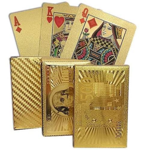 Foto Produk GOLD FOIL KARTU REMI POKER ANTI AIR WATERPROOF KOLEKTOR CARD dari Bro & Sis Jakarta