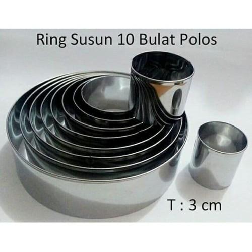 Foto Produk Ring Cutter Motif Bulat 1 Set Isi 10 ukuran dari Hasanah Cetakan Kue