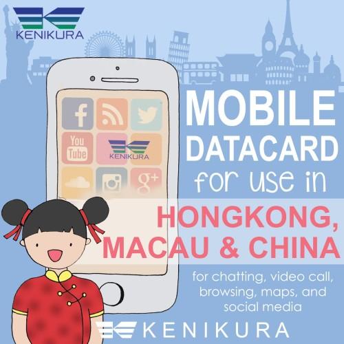 Foto Produk 5 days China Hong kong Macau Simcard data kartu sim card hongkong dari Kenikura Tour