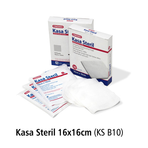 Foto Produk Kasa Steril 16x16cm OneMed box isi10pcs KS B-10 dari Onemed.Jakarta