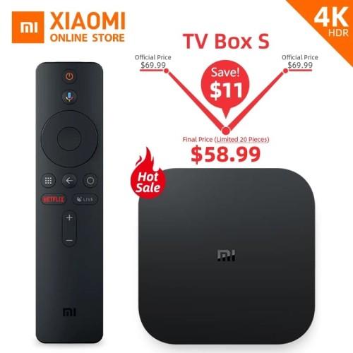 Foto Produk Versi Global Xiao Mi Mi Kotak S Smart TV Ultra HD 4K 2G 8G Android TV dari RainMillenium