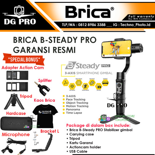 Foto Produk Brica B-Steady PRO - BSteady PRO - Gimbal 3-Axis Stabilizer dari DG PRO