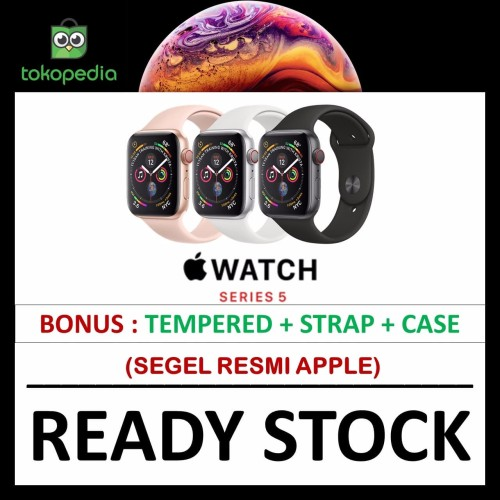 Foto Produk Apple Watch Series 5 44mm Gold Pink / Gray Grey Black Sport Band /Loop - NO BONUS PINK dari Big Berry Cellular