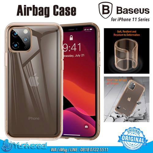 Foto Produk Baseus iPhone 11 / 11 Pro / 11 Pro Max Airbag Case Soft Case TPU Clear - Gold, iPhone 11 dari Yuniversal Store