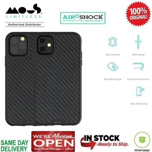 Foto Produk iPhone 11 / 11 Pro / 11 Pro Max Case Original Mous AraMax (RealCarbon) - iPhone 11ProMax dari Spigen Indonesia