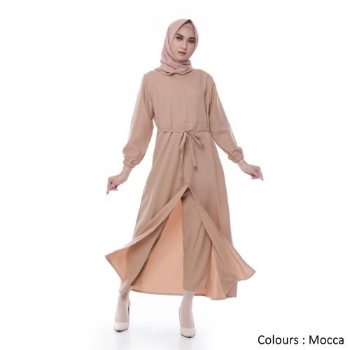 Foto Produk Setelan Muslim Wanita   Tania Set   Busui Moscrepe  Tazkia Hijab Store - Mocca dari Tazkia Hijab Store