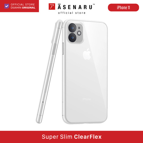 Foto Produk ASENARU iPhone 11/11 Pro/11 Pro Max Casing - Super Slim ClearFlex Case - Crystal Clear, iPhone 11 dari Asenaru Official Store