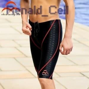 Foto Produk Celana Renang Pria Sharkskin Swimming Trunk Pants Size XL Red Black dari renald_cell