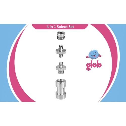 Foto Produk SPIGOT 4 in 1, Screw 1/4 3/8 Converter Baut Adapter Mount Tripod Photo dari Glob Shop