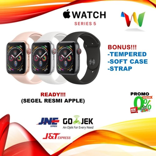 Foto Produk Apple Watch Series 5 44mm Gold Pink / Gray Grey Black Sport Band /Loop - PINK NO BONUS dari winselindo