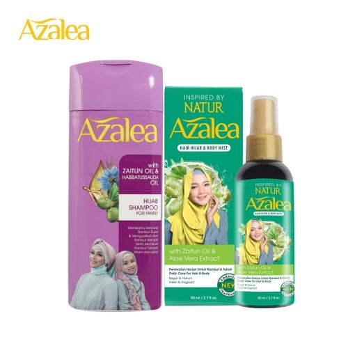 Foto Produk Paket Azalea Shampoo Zaitun Oil + Azalea Hijab & Body Mist dari AZALEA OFFICIAL STORE