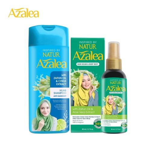 Foto Produk Paket Azalea Shampoo Citrus + Azalea Hijab & Body Mist dari AZALEA OFFICIAL STORE