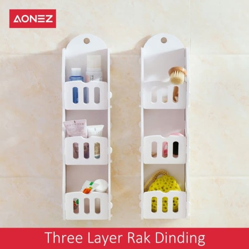 Foto Produk AONEZ Three Layer Rak Dinding PVC Fence Wall Shelf dari AONEZ Official Store