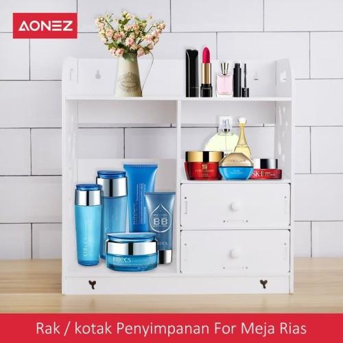 Foto Produk AONEZ Rak / kotak penyimpanan for Meja rias - Putih dari AONEZ Official Store