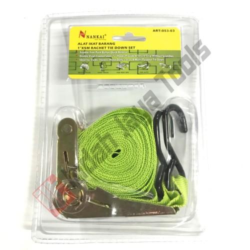 Foto Produk NANKAI Rachet Tie Down 1 inch x 5 Meter Tali Pengikat Barang di Motor dari Indah Jaya Tools