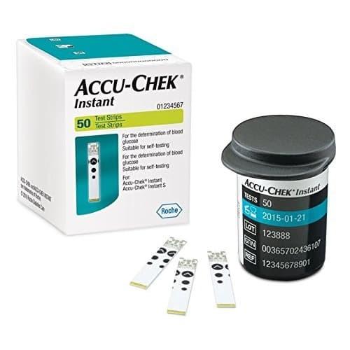 Foto Produk Accu Chek Instant Strip Glucose/Gula Darah Accu Check isi 50 strip dari TokoTensi
