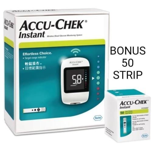 Foto Produk Accu Chek Instant + 50 Test Strip Alat Gula Darah Accu Check dari TokoTensi