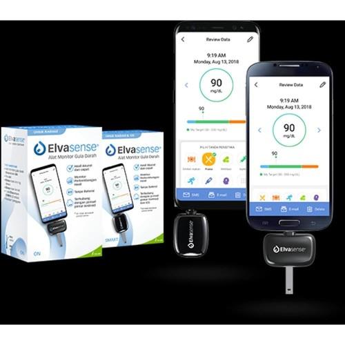 Foto Produk Elvasense Smart Alat Tes Gula Darah Android & IOS Iphone dari TokoTensi