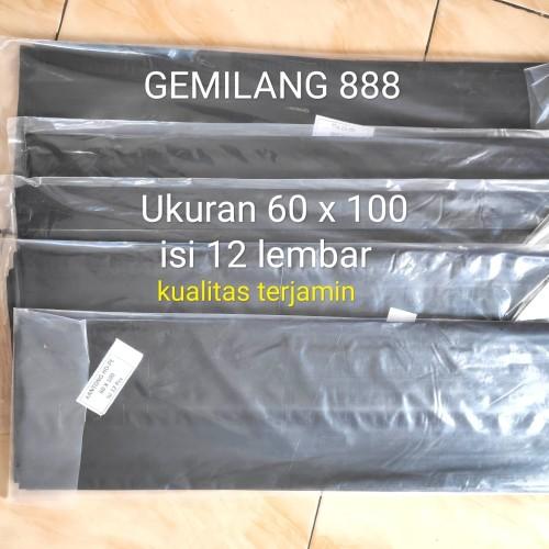 Foto Produk plastik sampah,trash bag, plastik hitam,kantong plastik sampah 60x100 dari Gemilang 888