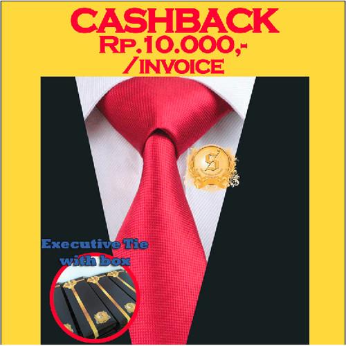 Foto Produk dasi kantor import untuk pria warna merah terang motif kotak kilap dari SSE Trade Center