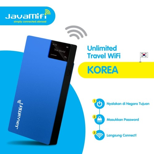 Foto Produk JavaMifi 4G Travel Wifi South Korea Unlimited Savvy | Sewa Wifi Korea dari JavaMifi