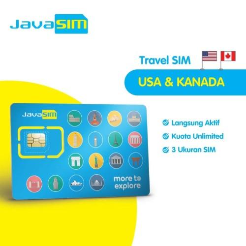 Foto Produk SIM Card Amerika Kanada Unlimited | USA Canada SIM dari JavaMifi