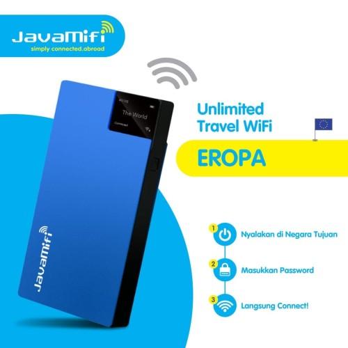 Foto Produk JavaMifi 4G Travel Wifi Europe Unlimited Savvy | Sewa Wifi Eropa dari JavaMifi