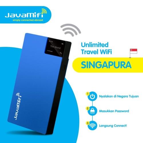 Foto Produk JavaMifi 4G Travel Wifi Singapore Unlimited Savvy | Sewa Wifi Singapur dari JavaMifi