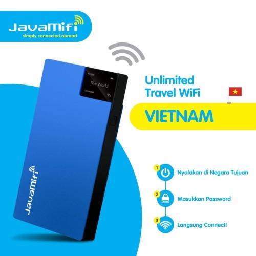Foto Produk JavaMifi 4G Travel Wifi Vietnam Unlimited Savvy | Sewa Wifi Vietnam dari JavaMifi