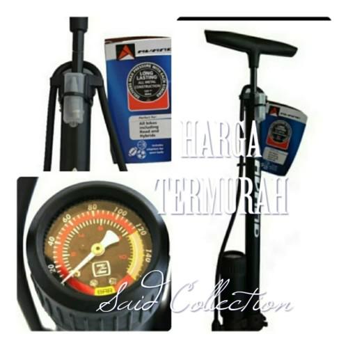 Foto Produk Pompa Sepeda Avand Pressure Meter Alloy Hitam dari Said Colletion