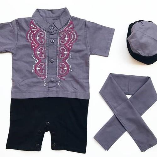 Foto Produk Baju Koko Bordir Peci anak - baju koko bayi - baju muslim baby -noa dari babyclothingco