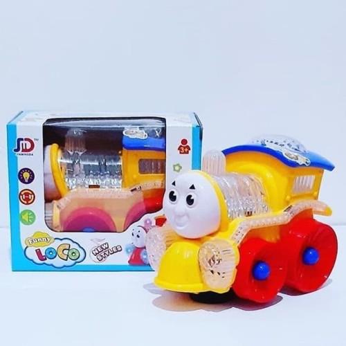 Foto Produk Mainan Anak Kereta Kepala Thomas Lampu Bump and Go - 688 dari EAZYTOYS