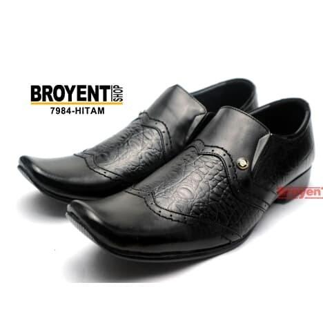 Foto Produk Sepatu Pria Kerja Kantor Pantofel Kulit Sapi Asli Hitam 7984 - Cokelat, 39 dari Broyent-shop