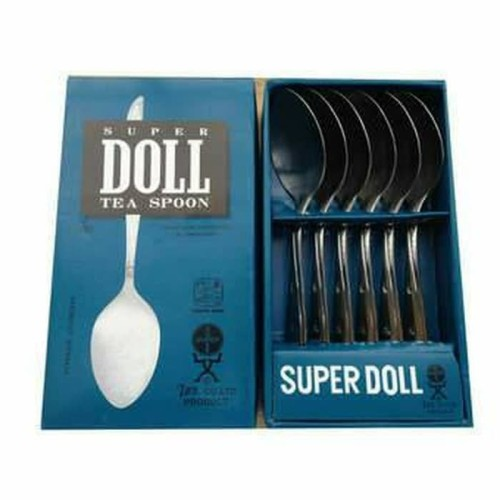 Foto Produk SUPER DOLL Sendok Teh Kecil Stainless Steel Tea Spoon isi 6 Pcs Perdus dari AGEN PERABOT FAMILY