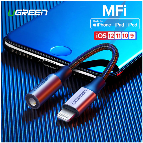 Foto Produk UGreen Iphone Lightning to AUX 3.5 mm Audio + Mic Supported MFI dari Cavalese