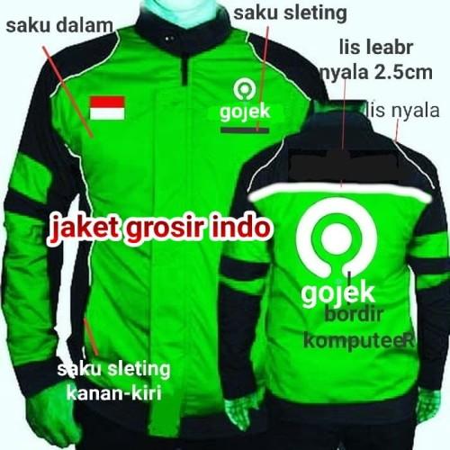 Foto Produk jaket gojek MOTOR waterprof - Hijau, M dari jaketgrosirindo