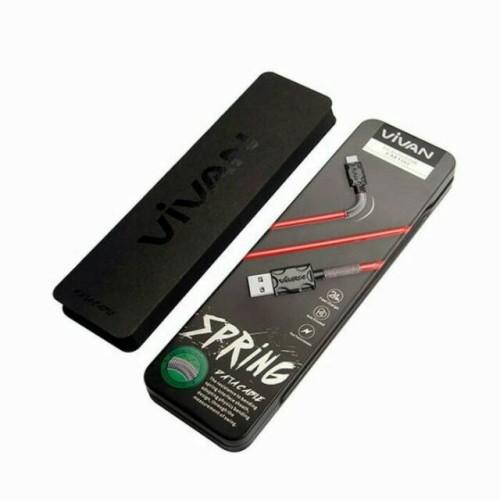 Foto Produk Vivan FM100 Data Cable 2.4A 1M Spring Micro USB for Android dari Clarias Shop
