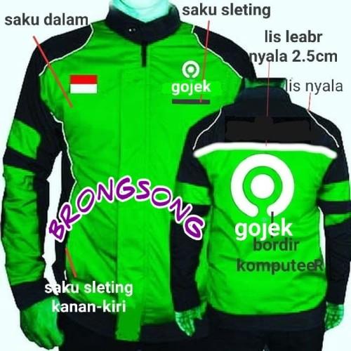 Foto Produk jaket gojek logo baru - Hijau, M dari BRONGSONK AWAX