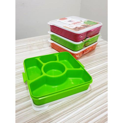 Foto Produk Kindaichi Susun 1 / Microwave Lunch Box Catering Kotak Makan Sekat 5 dari oneone