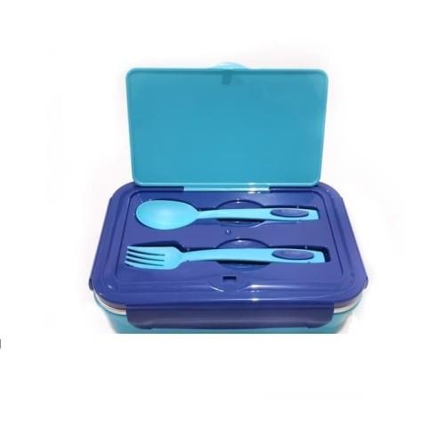 Foto Produk [BIRU] Kotak Makan Dubblin Insulated Lunch Box Steel Inside BPA Free dari oneone