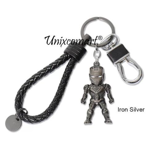 Foto Produk Cars Key Chain Superhero Gantungan kunci Mobil Motor Premium Metal - Iron Silver dari Unixcomart