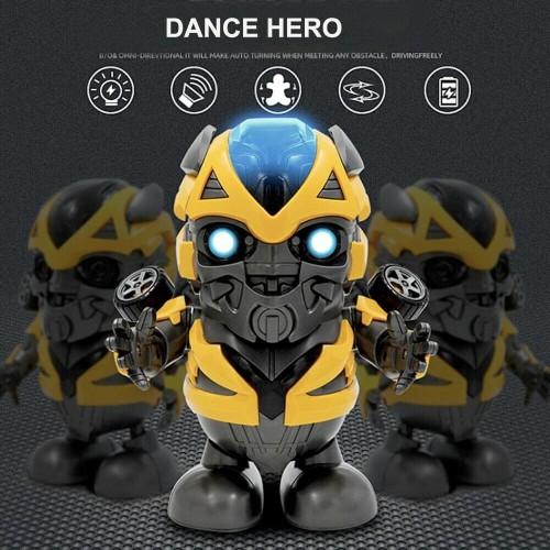 Foto Produk M153B Mainan Robot Bumblebee | Smart Dance Robot with Music Dacing dari bobo baby shop