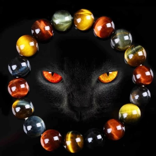 Foto Produk Gelang Batu Natural Tiger Eye Multi Color 8/10/12mm Elastis - 8 dari Bungas Gemstone