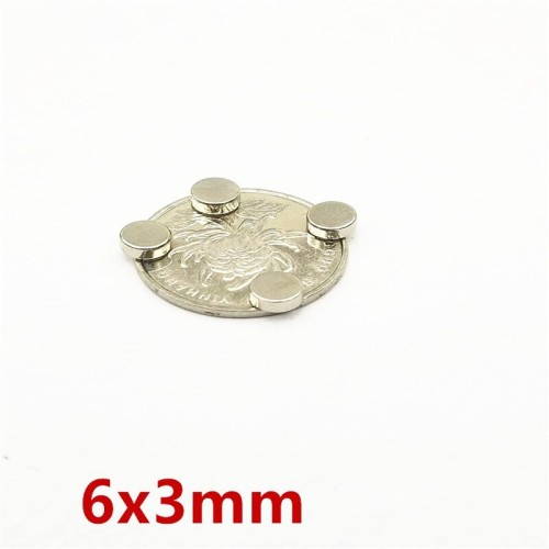 Foto Produk LEDERE 100pcs Magnets 6x3 N35 Super Disc 6x3mm Cylinder Rare Earth dari Bluesky__store