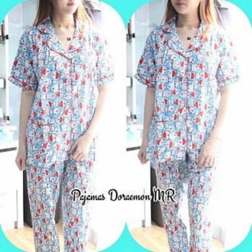 Foto Produk TERMURAH baju tidur wanita model piyama pajamas cp tangan pendek celan dari yorameshop