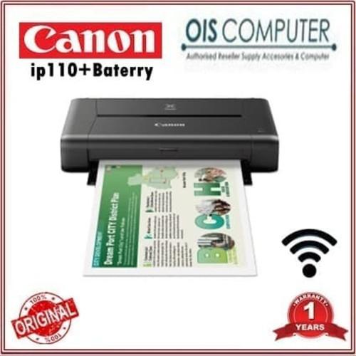 Foto Produk GROSIRAN CANON PIXMA iP110 With Baterry Printer Wi SSFX4024 dari kiranna