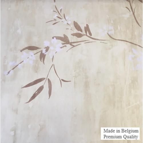 Foto Produk Wallpaper Dinding Import Eropa Bunga Krem Putih Ruang Tamu Murah Disc dari Wisma Sehati Online