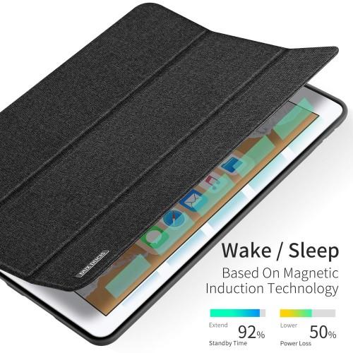 Foto Produk Case iPad 7 10.2 inch 7th-gen 2019 Dux Ducis Domo Series Cover Casing - Hitam dari Pine Premium Gadget Acc