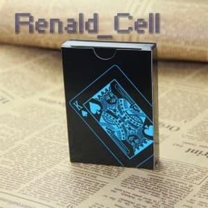 Foto Produk Kartu Remi Plastik Anti Air Waterproof Black dari renald_cell