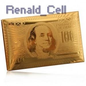 Foto Produk Kartu Remi Poker Lapisan Gold Foil Motif Dollar THKK9273A Golden dari renald_cell